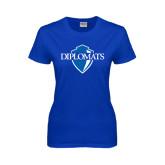 Ladies Royal T Shirt-Diplomats Official Logo