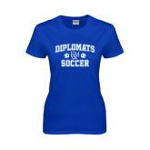 Ladies Royal T Shirt-Diplomats Soccer