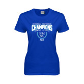 Ladies Royal T Shirt-2015 Centennial Conference Lacrosse
