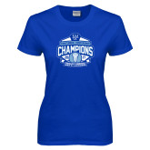 Ladies Royal T Shirt-2017 Centennial Conference Champions Mens Lacrosse