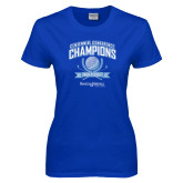Ladies Royal T Shirt-2017 Centennial Conference Champions Mens Golf
