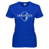 Ladies Royal T Shirt-Diplomats Official Logo Distressed