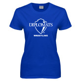 Ladies Royal T Shirt-Wrestling