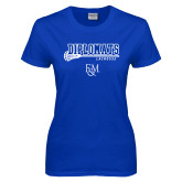Ladies Royal T Shirt-Diplomats Lacrosse Stick