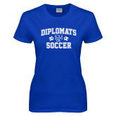 Ladies Royal T Shirt-Diplomats Soccer