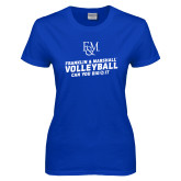 Ladies Royal T Shirt-Volleyball Can You Dig It