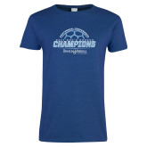 Ladies Royal T-Shirt-2017 Mens Soccer Champions