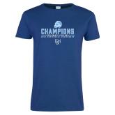 Ladies Royal T-Shirt-2017 Football Champions