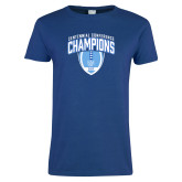 Ladies Royal T-Shirt-2017 Football Champions Stacked w/ Football Vertical