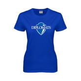Ladies Royal T Shirt-Diplomats Official Logo Distressed