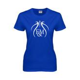 Ladies Royal T Shirt-Logo in Ball