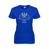 Ladies Royal T Shirt-Logo on Ball