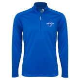 Syntrel Royal Blue Interlock 1/4 Zip-Diplomats Official Logo