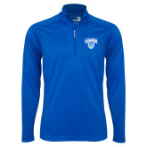 Syntrel Royal Blue Interlock 1/4 Zip-2017 Football Champions Stacked w/ Football Vertical