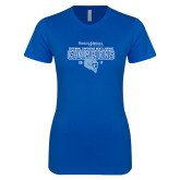 Next Level Ladies SoftStyle Junior Fitted Royal Tee-2017 Centennial Conference Champions Mens Lacrosse