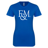 Next Level Ladies SoftStyle Junior Fitted Royal Tee-F&M