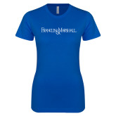 Next Level Ladies SoftStyle Junior Fitted Royal Tee-Franklin & Marshall