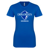 Next Level Ladies SoftStyle Junior Fitted Royal Tee-Swimming