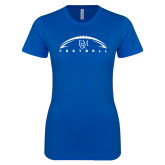 Next Level Ladies SoftStyle Junior Fitted Royal Tee-Flat Football Design