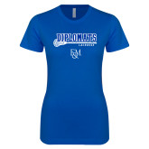 Next Level Ladies SoftStyle Junior Fitted Royal Tee-Diplomats Lacrosse Stick
