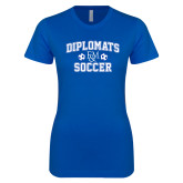Next Level Ladies SoftStyle Junior Fitted Royal Tee-Diplomats Soccer