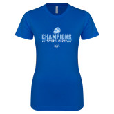 Next Level Ladies SoftStyle Junior Fitted Royal Tee-2017 Football Champions