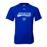 Under Armour Royal Tech Tee-Lacrosse Stick