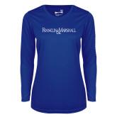 Ladies Syntrel Performance Royal Longsleeve Shirt-Franklin & Marshall