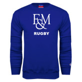 Royal Fleece Crew-Franklin & Marshall Rugby