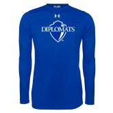 Under Armour Royal Long Sleeve Tech Tee-Diplomats Official Logo