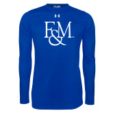 Under Armour Royal Long Sleeve Tech Tee-F&M
