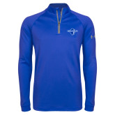 Under Armour Royal Tech 1/4 Zip Performance Shirt-Diplomats Official Logo