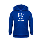 Youth Royal Fleece Hood-Franklin & Marshall Rugby