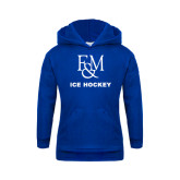 Youth Royal Fleece Hood-Franklin & Marshall Ice Hockey