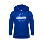 Youth Royal Fleece Hood-2016-17 Centennial Conference Champions Mens Basketball