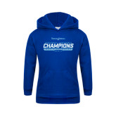 Youth Royal Fleece Hood-2016-17 Centennial Conference Champions Mens Swimming