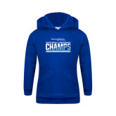 Youth Royal Fleece Hood-2017 Centennial Conference Champions Womens Lacrosse