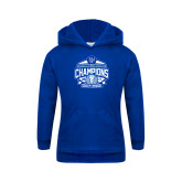 Youth Royal Fleece Hood-2017 Centennial Conference Champions Mens Lacrosse