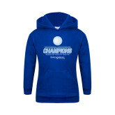 Youth Royal Fleece Hood-2017 Centennial Conference Champions Mens Golf