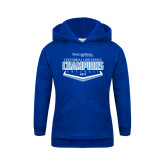 Youth Royal Fleece Hood-2017 Centennial Conference Champions Softball
