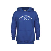 Youth Royal Fleece Hoodie-Flat Football Design
