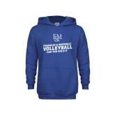 Youth Royal Fleece Hoodie-Volleyball Can You Dig It