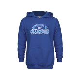 Youth Royal Fleece Hoodie-2017 Football Champions Stacked w/ Football