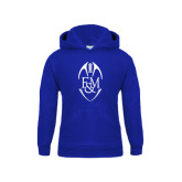 Youth Royal Fleece Hood-Tall Football Design