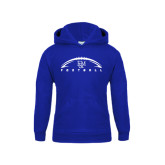 Youth Royal Fleece Hood-Flat Football Design