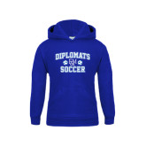 Youth Royal Fleece Hood-Diplomats Soccer