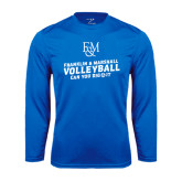 Syntrel Performance Royal Longsleeve Shirt-Volleyball Can You Dig It