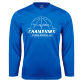 Syntrel Performance Royal Longsleeve Shirt-2016 Centennial Conference Champions Mens Basketball