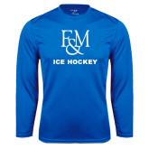 Syntrel Performance Royal Longsleeve Shirt-Franklin & Marshall Ice Hockey