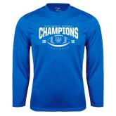 Syntrel Performance Royal Longsleeve Shirt-2016 CC-MAC Bowl Champions Football